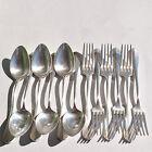 Couverts de table Baguette: 6 fourchettes + 6 cuillères en Métal argenté GULDEN