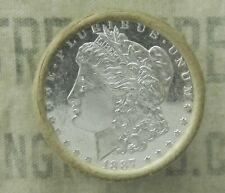 $20 BU MORGAN DOLLAR ROLL UNCIRCULATED SILVER PL 1887 & S MINT ENDS DOLLARS X05