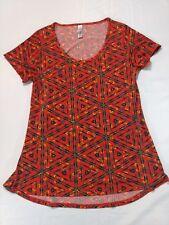 LulaRoe Womens Classic T Tee Geometric XS Short Sleeve Polyester Spandex  *I1