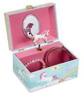 JewelKeeper Girls Musical Jewellery Storage Box with Spinning Unicorn, Rainbow