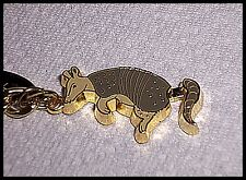 Keychain Texas Armadillo Screw Lock carabiner key ring Tail Moves Goldtone New D