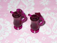 Mattel Barbie Doll Dream House Accessory LOT of 2 CUPS TROPICAL DRINKS KITCHEN