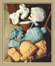 Baby Bonnet, Helmet, Mitts and Bootees in DK Knitting Pattern 6 mths-1yr  995