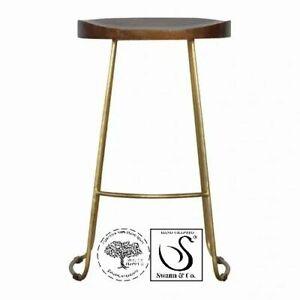 Gold Iron Bar Stool