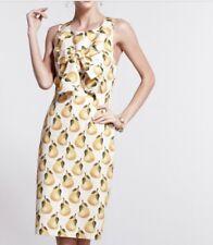 Nadinoo / Anthropologie Lula's Pear Sheath Dress Sz 6 100% Cotton Lined Pockets