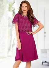Kaleidoscope Womens 2-in-1 Layered Dress Jacket Size 18 BNWT RRP £119 Raspberry