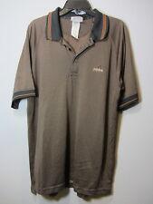 adidas dri-fit golf polo orange/black mens L