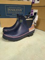 New Women's Pendleton Chelsea Navy Blue Rain boots Slip-On Authentic - Pick Size