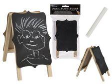 Mini Wooden Note Menu Blackboard with Chalk Stand Reminder Message Wipe Clean