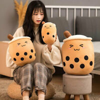 Creative Bubble Tea Cup Shaped Plush Doll Toy Soft Doll Christmas Gift Decor