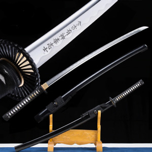 Black Folded 1045-carbon Steel Japanese Samurai Sword katana Full Tang Handmade