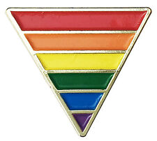 Rainbow Pride Flag Triangle Gold Plated - Lapel or Fabric Pin