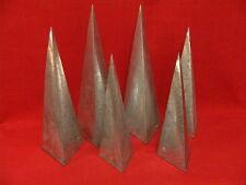 Lot de 6 vases muraux triangulaires en zing