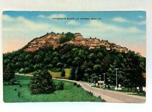 La Crosse Wisconsin Grandads Bluff Vintage Postcard