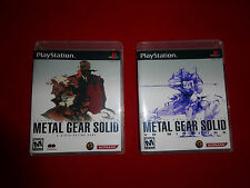 EMPTY Replacement Cases  Metal Gear Solid 1+ 2 VR Missions PS1 Playstation 1