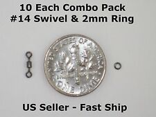 Combo Pack: 2mm Leader Tippet Ring & #14 Micro Swivel -Dry/Wet/Nymph- Free Ship!