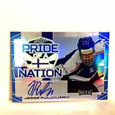 Jesse Puljujarvi Autograph 2015-16 Leaf Metal 14/15 Pride Of A Nation Rookie