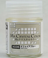 GSI CREOS GUNZE MR HOBBY Crystal Color XC05 Sapphire Blue LACQUER PAINT 18ml NEW