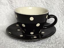 PRICE & KENSINGTON polka-dot coffee cup and saucer in good, used condition