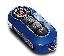 Key Holder Cover Genuine Fiat 500 Blue 71805965