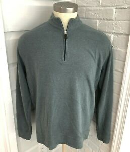 Peter Millar Mens Golf 1/4 Zip Pullover Sweater Gray Rayon Poly Cotton Casual XL