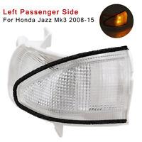 Wing Door Mirror Indicator Clear For Honda Jazz Mk3 2008-15 Left Passenger Side