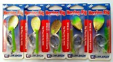 Clam Bigtooth Wire Rig Firetiger Blades #2 Red Hooks Pike Herring Hot Dog