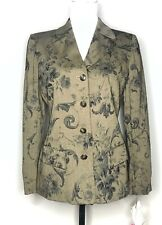 Anne Klein II Women's Blazer Floral Button Front Lined Size Petite 2 NWT