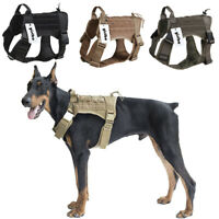 K9 Tactical Dog Harness Nylon Training Military Patrol Service Dog Vest w/Handle