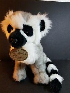 Yomiko Classic Plush Lemur Grey White Black ringed tail Russ Stuffed