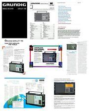 "GRUNDIG SATELLIT 700 COPY INSTRUCTION + SERVICE MANUALS w/ 11x17"" DIAGRAMS + ADS"