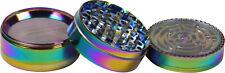 Regenbogen Rainbow Grinder Gewürzmühle Metall 4-teilig Kräutermühle
