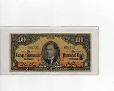 La Banque Provinciale du Canada, Provincial Bank Of Canada, 1936, $10