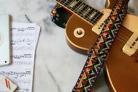 """Vintage 60s""""Tom's Vintage Straps"""" Santa Fe Hippie Guitar Strap Replica"""