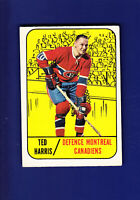 Ted Harris 1967-68 TOPPS Hockey #10 (VGEX) Montreal Canadiens