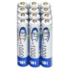12x AAA battery batteries Bulk Nickel Hydride Rechargeable NI-MH 1000mAh 1.2V BT