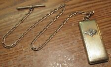 Very Old Brass Shriners Masonic Bus Token or Dime Charm Locket - Mason