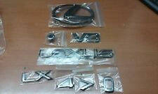 LEXUS LX470 1998 GENUINE FACTORY OEM BLACK CHROME EMBLEM SET 4 PIECES USED