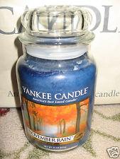 Yankee Candle NOVEMBER RAIN Large Jar 22 oz Candle RARE & HTF Fall Autumn Fresh