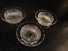 Vintage Pressed Glass Ash Tray/Coasters- Set of Three