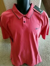 $90 Tiger Woods Nike Men golf  polo shirt xl extra large  Dri-fit NWT tw red