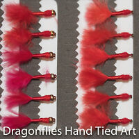 12 Gold Head & Standard Marabou Bloodworm Nymphs Trout Fishing Flies Dragonflies