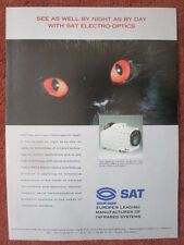 6/1992 PUB SAT SAGEM CHAT KATZE CAT CHAR LECLERC CAMERA INFRARED ATHOS NIGHT AD