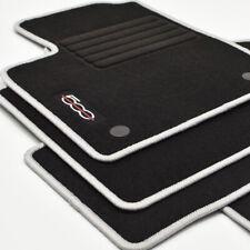 MP Velours Edition Fußmatten für Fiat 500 + 500 C Cabrio ab Bj. 2013 - weiss