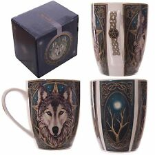Lisa Parker 'The Wild One' Wolves Guardian Wolf Mug Gift Box New Bone China Cup