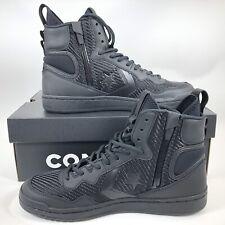 5ab2ffc0201 Converse Fastbreak Hi High Top Triple Black Side Zip Mens Size 10.5 162558c
