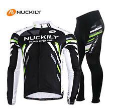 Men Thermal Fleece Cycling Jersey Pants Sports Long Sleeve Suit Bike Cycling Set