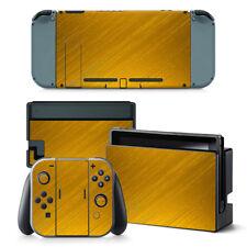 Nintendo Switch Skin Design Foils Aufkleber Schutzfolien Set - Gold Motiv
