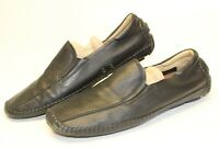 1803 Mens 45 11 11.5 Black Leather Casual Loafers Driving Mocs Comfort Shoes
