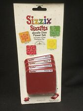 4 Dies Sizzix Sizzlits Doodle Dies Flower set: Bloom, Flower # 1,2,3,
